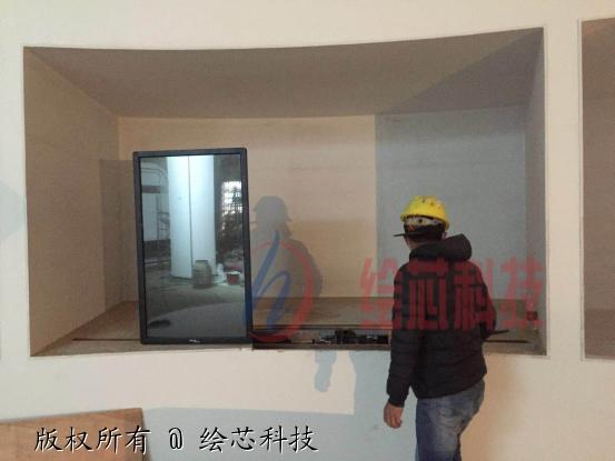 湖南株洲某展厅滑轨屏安装调试