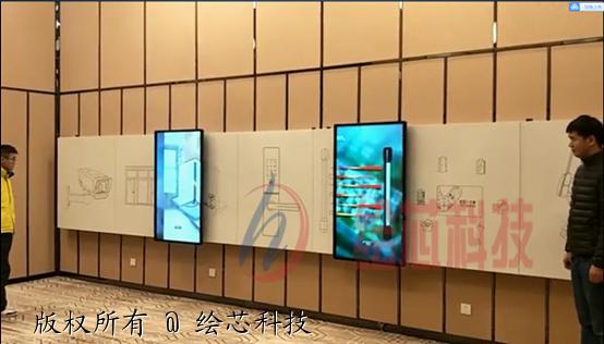 绘芯科技互动滑轨屏